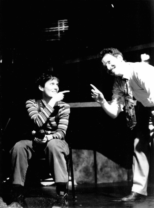 Joanna P. Adler and Toby Wherry in The Boys in the Basement